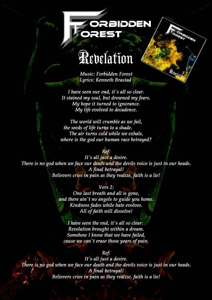 Revelation Lyric Sheet