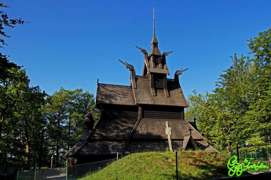 Fantoft Stavkirke Rebuilt